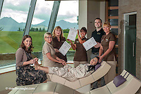 Staff at The Aghadoe Heights Hotel, Killarney celebrate winning the Irish Tatler Spa Awards 2013.<br /> Picture by Don MacMonagle