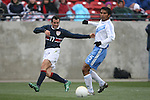 Chris Klein (17), of the United States, sends a pass past Guatemala's Henry Medina (5) on Sunday, February 19th, 2005 at Pizza Hut Park in Frisco, Texas. The United States Men's National Team defeated Guatemala 4-0 in a men's international friendly.