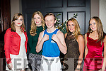 Boxing Glam<br /> -----------------<br /> Supporting the charity boxing night in aid of Recovery Haven, organised by St Margarets boxing club, Tralee in the Ashe hotel, Tralee last Saturday were L-R Emily Crowley-Holland, Amy Burke, Glovkin Roche, Tara O'halloran and Aine Holmes.