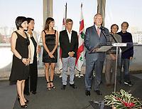 Montreal (Qc) Canada - Aug 31 2010 -The jury of  the 2010 World Film Festival : Président : BILLE AUGUST, réalisateur (Danemark)<br /> IRÈNE BIGNARDI, journaliste et directrice de festivals (Italie)<br /> ANNE-MARIE CADIEUX, actrice (Canada)<br /> MARWAN HAMED, réalisateur (Égypte)<br /> IGOR MINAEV, réalisateur (Ukraine-France)<br /> ÉDOUARD MOLINARO, réalisateur (France)<br /> LIJUNG TANG, directrice de festivals (Chine)