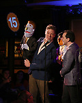 Barrett Foa and Rob McClure during the 'Avenue Q' 15th Anniversary Reunion Concert at Feinstein's/54 Below on July 30, 2018 in New York City.