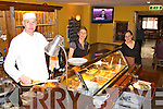 Chef Liam McIlroy, Debbie O'Leary and Mercedes Fernandez at the carvery lunch in Corkery's bar Killarney