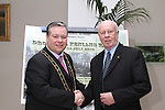 Mayor Paul Bell with Canadian Ambassador to Ireland, Loyola Hearn in the d Hotel on his visit to Drogheda....Photo NEWSFILE/Jenny Matthews.