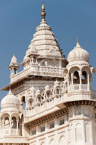 Jodhpur, India. White Marble mausoleum, Cenotaph, jaswant Thada in memory of the Maharaja.