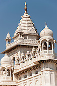 Jodhpur, India. White Marble mausoleum, Cenotaph, jaswant Thada in memory of the Maharaja.