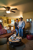 USA, Oregon, Enterprise, Cowboy Todd Nash and his wife Angela at their home, Northeast Oregon