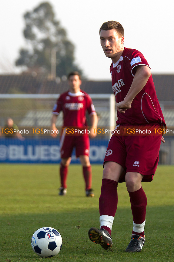 Max Cornhill of Chelmsford City FC - Chelmsford City vs Basingstoke Town - Blue Square Conference South Football at Melbourne Park Stadium, Chelmsford - 24/03/12 - MANDATORY CREDIT: Ray Lawrence/TGSPHOTO - Self billing applies where appropriate - 0845 094 6026 - contact@tgsphoto.co.uk - NO UNPAID USE.