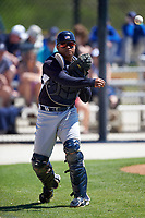 New York Yankees Alvaro Noriega (50) during a minor league Spring Training game against the Toronto Blue Jays on March 22, 2016 at Englebert Complex in Dunedin, Florida.  (Mike Janes/Four Seam Images)
