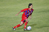 Crystal Palace defender Shintaro Harada (21). The New England Revolution (MLS) defeated Crystal Palace FC USA of Baltimore (USL2) 5-3 in penalty kicks after finishing regulation and overtime tied at 1-1 during a Lamar Hunt US Open Cup quarterfinal match at Veterans Stadium in New Britain, CT, on July 8, 2008.