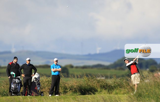 Owen Crooks (Bushfoot) on the 3rd tee during Round 3 of Matchplay in the North of Ireland Amateur Open Championship at Portrush Golf Club, Portrush on Thursday 14th July 2016.<br /> Picture:  Thos Caffrey / www.golffile.ie