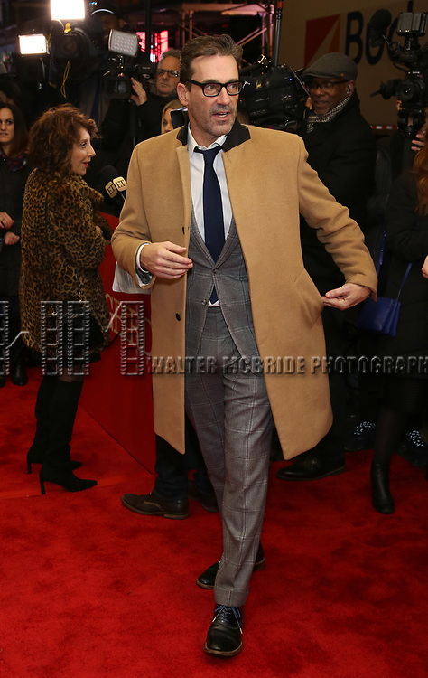 """Jon Hamm attends the Broadway Opening Night Performance of """"To Kill A Mockingbird"""" on December 13, 2018 at The Shubert Theatre in New York City."""