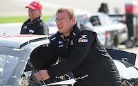 May 2, 2008; Richmond, VA, USA; NASCAR Nationwide Series driver Brian Keselowski during the Lipton Tea 250 at the Richmond International Raceway. Mandatory Credit: Mark J. Rebilas-