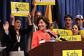 Democratic candidate Kathy Hochul speaks during a rally at UAW Union Hall on May 21, 2011 in Amherst, New York.  Hochul is running for the House of Representatives, NY-26th, in a special election to replace disgraced former Congressman Christopher Lee who abruptly resigned after a sex scandal.  Photo By Mike Janes/Four Seam Images