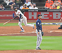 Hisashi Iwakuma (Mariners),<br /> APRIL 4, 2017 - MLB :<br /> Seattle Mariners starting pitcher Hisashi Iwakuma gives up a home run to Marwin Gonzalez of the Houston Astros in the sixth inning during the Major League Baseball game at Minute Maid Park in Houston, Texas, United States. (Photo by AFLO)