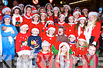 Children from Fame musical group who sang carols as they waited for Santa to arrive in Killorglin on Sunday