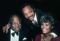 Count Basie, Jesse Jackson and Dionne Warwick 1982<br /> Photo By Adam Scull/PHOTOlink.net /MediaPunch