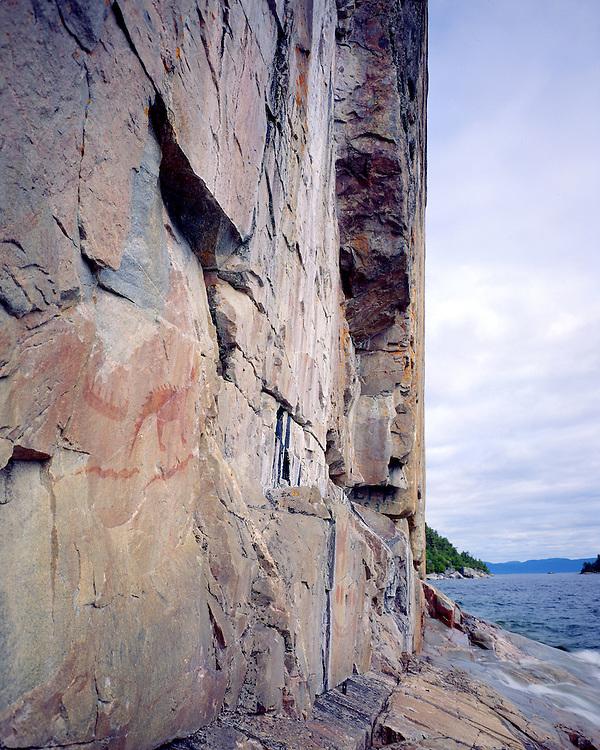 Agawa Indian Pictographs, Lake Superior Provincial Park, Ontario, Canada, June, 1987.