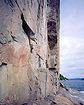 Agawa Indian Pictographs, Lake Superior Provincial Park, Ontario, Canada, June, 1987.