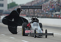 Apr. 29, 2012; Baytown, TX, USA: NHRA top fuel dragster driver Bob Vandergriff Jr during the Spring Nationals at Royal Purple Raceway. Mandatory Credit: Mark J. Rebilas-