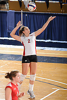 20 November 2008:  Western Kentucky libero Kelly Hofmeyer (2) serves during the WKU 3-0 victory over Denver in the first round of the Sun Belt Conference Championship tournament at FIU Stadium in Miami, Florida.