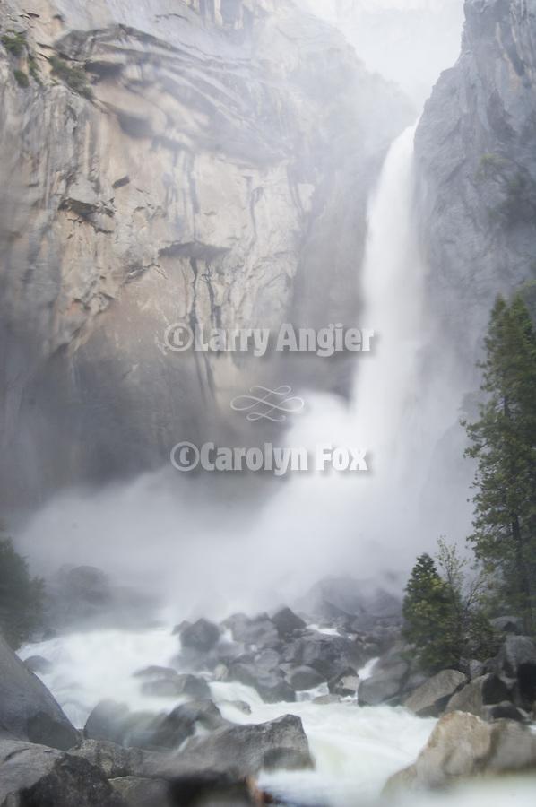 Lower Yosemite Falls, springtime runoff, Yosemite National Park, Calif.