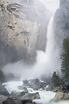 Lower Yosemite Falls, springtime runoff, Yosemite National Park, Calif.