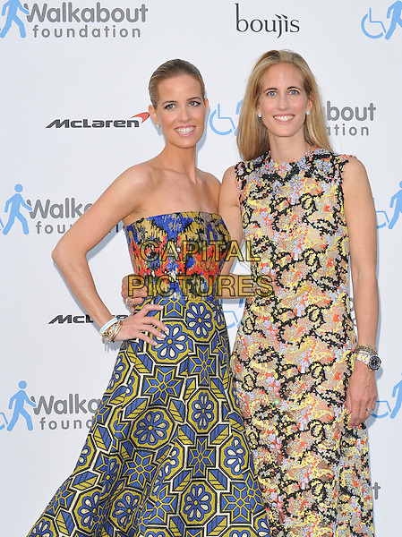 LONDON, ENGLAND - JUNE 27: Carolina Gonzalez Bunster &amp; Adriana Chryssicopoulos attend the Walkabout Foundation's Inaugural Gala, Natural History Museum, Cromwell Rd., on Saturday June 27, 2015 in London, England, UK. <br /> CAP/CAN<br /> &copy;Can Nguyen/Capital Pictures