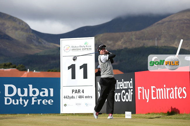 Steve Webster (ENG) plays from the 11th during Round Two of the 2015 Dubai Duty Free Irish Open Hosted by The Rory Foundation at Royal County Down Golf Club, Newcastle County Down, Northern Ireland. 29/05/2015. Picture David Lloyd | www.golffile.ie