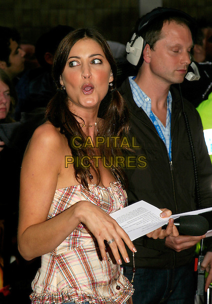 "LISA SNOWDON.""The Dukes Of Hazzard"" UK Film Premiere, Vue Leicester Square, London..August 22nd, 2005.half length funny face plaid top ring.www.capitalpictures.com.sales@capitalpictures.com.© Capital Pictures."
