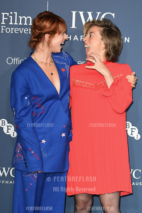 LONDON, UK. October 09, 2018: Jessie Buckley &amp; Nicole Taylor arriving for the 2018 IWC Schaffhausen Gala Dinner in Honour of the BFI at the Electric Light Station, London.<br /> Picture: Steve Vas/Featureflash