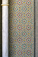 Fez, Morocco - Column and Tile Work at the Royal Palace, Dar al-Makhzen.