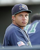 New Orleans Zephyrs IF Argenis Reyes on Sunday June 1st at Dell Diamond in Round Rock, Texas. Photo by Andrew Woolley / Four Seam Images.