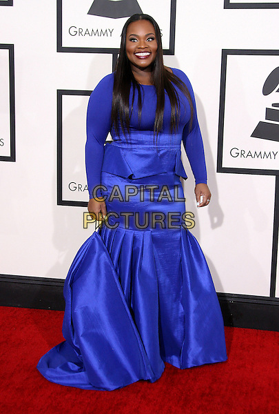 LOS ANGELES, CA - JANUARY 26 - Tasha Cobbs. 56th GRAMMY Awards held at the Staples Center. <br /> CAP/ADM<br /> &copy;AdMedia/Capital Pictures