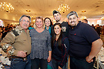 Southington, CT- 24 March 2017-030717CM12- From left, Mark and Linda Tutolo of Middlebury, Elaine Romano of Middlebury, Samantha Sola of Woodbury, Dan Tutolo of Middlebury and Peter Sola Woodbury are photographed during the 25th annual Nutmeg  Friends of the NRA dinner at the Aqua Turf in Southington on Friday.     Christopher Massa Republican-American