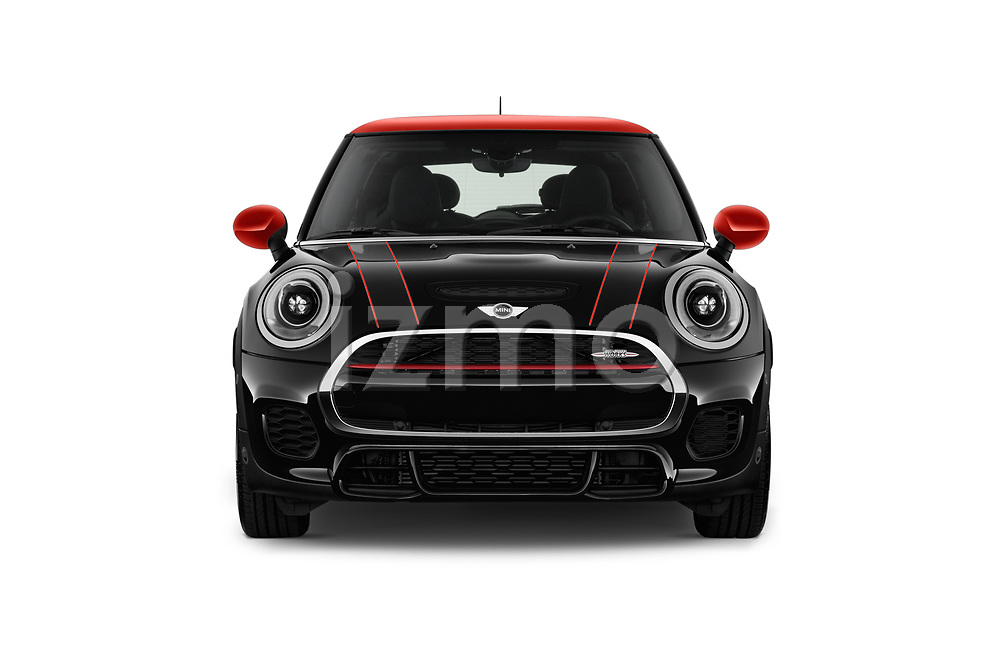 Car photography straight front view of a 2017 Mini Cooper John Cooper Works 2 Door Convertible