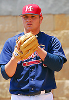 Pitcher Jo-Jo Reyes of the Mississippi Braves, the Atlanta Braves' Class AA affiliate of the Southern League, prior to a game April 22, 2007, against the Birmingham Barons at Trustmark Park in Pearl, Miss. Photo by:  Tom Priddy/Four Seam Images
