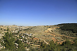 Palestinian village Qatana in Wadi Kfira