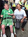 Jamie Monaghan meets An Taoiseach leo Varadkar at Fleadh Ceoil na hEireann. Photo:Colin Bell/pressphotos.ie