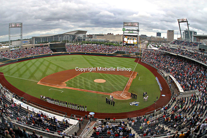 A crowd of 24,394 watched North Carolina and Vanderbilt at TD Ameritrade Park on June 22, 2011. Vanderbilt's 5-1 win eliminated North Carolina from the College World Series in Omaha, Neb. (Photo by Michelle Bishop)..