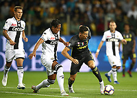 Calcio, Serie A: Parma - Juventus, Parma stadio Ennio Tardini, 1 settembre 2018.<br /> Juventus' Cristiano Ronaldo (r) in action with Parma's Alves Bruno Eduardo (l) during the Italian Serie A football match between Parma and Juventus at Parma's Ennio Tardini stadium, September 1, 2018. <br /> UPDATE IMAGES PRESS/Isabella Bonotto