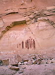 The Holy Ghost pictograph panel, Horseshoe Canyon, Canyonlands National Park, Utah