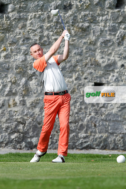 Mark O'Boyle (Heath Golf Club) on the 16th tee during Round 1 of the 104th Irish PGA Championship at Adare Manor Golf Club on Thursday 2nd October 2014.<br /> Picture:  Thos Caffrey / www.golffile.i