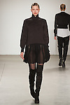 Marlee walks runway in an outfit from the VERDAD Fall Winter 2017 collection by Louis Verdad, on February 12, 2017; at Pier 59 Studios during New York Fashion Week: Women's Fall Winter 2017.