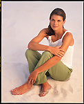 Mia Hamm photographed in Pensacola Beach, Florida