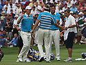 JUSTIN ROSE of the European Ryder Cup Team & IAN POULTER of the European Ryder Cup Team during the saturday foursomes of the 37th Ryder Cup Matches, September 16 - 21, 2008 played at Valhalla Golf Club, Louisville, Kentucky, USA ( Picture by Phil Inglis ).... ......