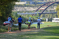 Hideki Matsuyama (JPN) and Brandon Grace (RSA) make their way down 12 during day 1 of the WGC Dell Match Play, at the Austin Country Club, Austin, Texas, USA. 3/27/2019.<br /> Picture: Golffile | Ken Murray<br /> <br /> <br /> All photo usage must carry mandatory copyright credit (&copy; Golffile | Ken Murray)