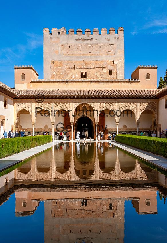 Spanien, Andalusien, Granada: Alhambra, Patio de Arrayanes   Spain, Andalusia, Granada: Alhambra, Patio de Arrayanes
