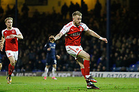 Paddy Madden of Fleetwood Town shoots on goal during the Sky Bet League 1 match between Southend United and Fleetwood Town at Roots Hall, Southend, England on 13 January 2018. Photo by Carlton Myrie.