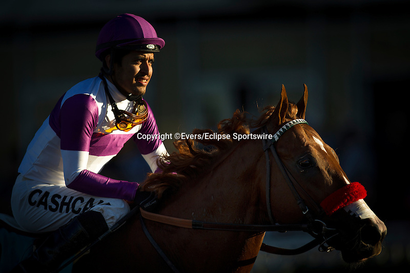 December 12, 2015:  Found Money with Mario Gutierrez up wins the King Glorious Stakes at Los Alamitos Race Track in Cypress California. Evers/ESW/CSM