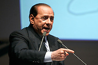 Il Presidente del Consiglio Silvio Berlusconi interviene all'Assemblea di Confesercenti a Roma, 25 giugno 2008..Italian Premier Silvio Berlusconi gestures as he speaks during the Annual Assembly of Confesercenti traders association in Rome, 25 june 2008..UPDATE IMAGES PRESS/Riccardo De Luca